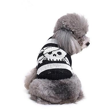 كلب البلوزات ملابس الكلاب كاجوال/يومي جماجم كوستيوم للحيوانات الأليفة