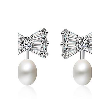 Damen Ohrstecker Imitierte Perlen Modisch Simple Style Aleación Geometrische Form Schmuck Für Hochzeit Party