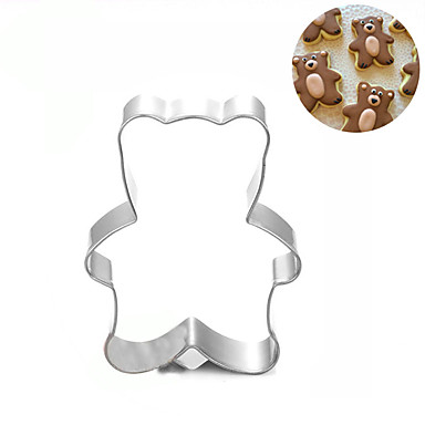 mic urs cookie tăietor din oțel inoxidabil biscuiți tort mucegai fondant instrumente de copt