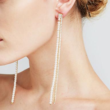 Damen Tropfen-Ohrringe Imitierte Perlen Imitation Diamant Sexy Modisch individualisiert Euramerican Film-Schmuck Modeschmuck Kupfer