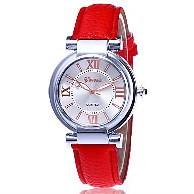Pentru femei Ceas Elegant Ceas La Modă Ceas de Mână Unic Creative ceas Ceas Casual Chineză Quartz PU Bandă Casual ElegantNegru Alb