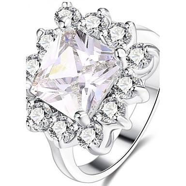 Dames Bandring Kristal Kubieke Zirkonia Gepersonaliseerde Luxe Klassiek Standaard Sexy Liefde Elegant leuke Style Modieus Kristal