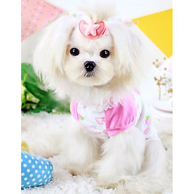 Hund Pyjamas Hundekleidung Cartoon Design Gelb Blau Rosa Baumwolle Kostüm Für Haustiere Sommer Lässig / Alltäglich