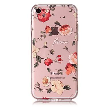 Caz pentru iphone 7 7plus caz acoperă trandafiri model tpu material rezistent la zgârieturi de relief telefon caz pentru iphone 6s 6 6plus