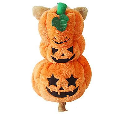 Câine Costume Îmbrăcăminte Câini Halloween Dovleac Portocaliu