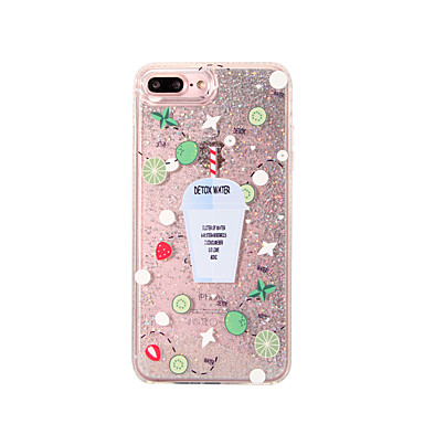 Voor Hoesje cover Stromende vloeistof Patroon Achterkantje hoesje Glitterglans Hard PC voor Apple iPhone 7 Plus iPhone 7 iPhone 6s Plus