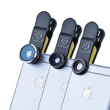 Handy-Objektiv Fischaugen-Objektiv Weitwinkelobjektiv Makro-Objektiv Aluminium Legierung 10x und höher 198