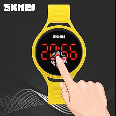 Χαμηλού Κόστους Ανδρικά ρολόγια-SKMEI Γυναικεία Ψηφιακό ρολόι Ψηφιακό Συνθετικό δέρμα με επένδυση Μαύρο / Μπλε / Κόκκινο 30 m Ανθεκτικό στο Νερό Νυχτερινή λάμψη Απίθανο Ψηφιακό κυρίες Καθημερινό - Κόκκινο Πράσινο Μπλε / Δύο χρόνια