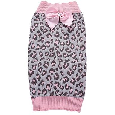 Pisici Câine Haine Pulovere Crăciun Îmbrăcăminte Câini Leopard Roz Spandex Amestec de Bumbac/ In Costume Pentru animale de companie