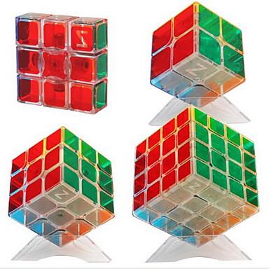 cubul lui Rubik 2*2*2 3*3*3 Cub Viteză lină Cuburi Magice Alină Stresul puzzle cub Manual de Utilizare Inclus Plastice Dreptunghiular