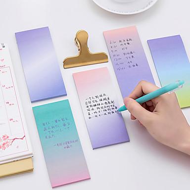 1 gradient de culori gradient note de auto-stick 40 pagini (culoare aleatoare)