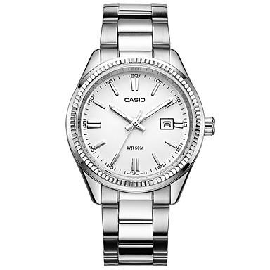 Casio Dames Modieus horloge Polshorloge Vrijetijdshorloge Japans Kwarts Kalender Waterbestendig Roestvrij staal Band Bedeltjes