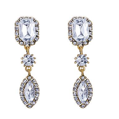Pentru femei Cercei Stud imitație de diamant Geometric La modă bijuterii de lux Bijuterii Statement Elegant Zirconiu Cubic AliajGeometric