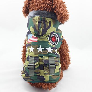Câine Haine Îmbrăcăminte Câini Modă American / USA Culoare Camuflaj Costume Pentru animale de companie