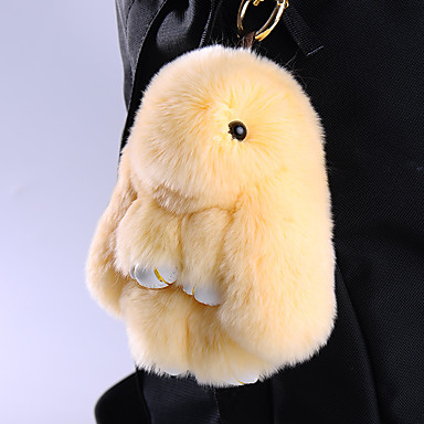 الحقيبة / الهاتف / المفاتيح سحر الكرتون لعبة ريكس الأرنب الفراء الهاتف الخليوي سحر