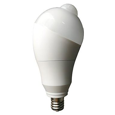 5W Bulbi LED Inteligenți 10 led-uri SMD 5730 Senzor Senzor cu Infraroșii Senzor organism corporal Controlul luminii Alb Cald Alb Rece 460