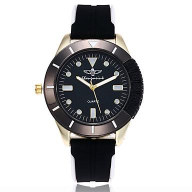 Heren Dress horloge Modieus horloge Polshorloge Unieke creatieve horloge Vrijetijdshorloge Chinees Kwarts Silicone Band Bedeltjes