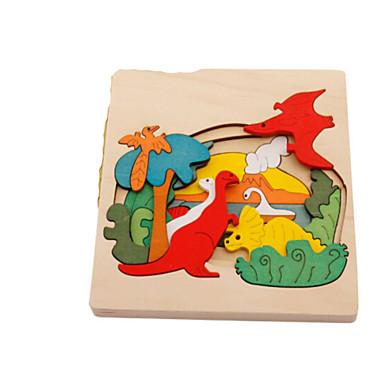 Puzzle 3D Puzzle Jucării Educaționale Jucarii Animal 3D Animale Lemn Lemn natural Unisex Bucăți