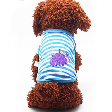 Câine Γιλέκο Îmbrăcăminte Câini Respirabil Casul/Zilnic Fruct Portocaliu Rosu Verde Albastru Roz Costume Pentru animale de companie