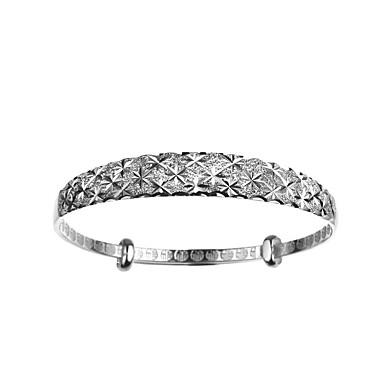 Pentru femei Fete Brățări Bangle Brățară Adorabil stil minimalist Deschis Bling bling Metalic Argilă Circle Shape Flower Shape Star Shape