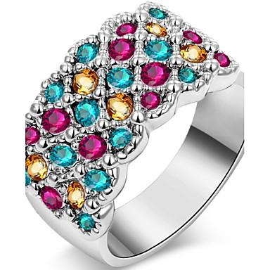 Pentru femei Verighete Cristal Personalizat Lux Clasic De Bază Sexy Iubire Modă Cute Stil Elegant Cristal Aliaj Geometric Shape Bijuterii