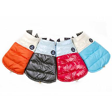 Hundeweste Puffer / Daunenjacke Hundebekleidung warm lässig / täglich Farbblock Kostüm für Haustiere