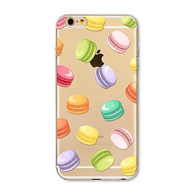 hoesje Voor Apple iPhone X iPhone 8 Plus Transparant Patroon Achterkant Tegel Voedsel Zacht TPU voor iPhone X iPhone 8 Plus iPhone 8