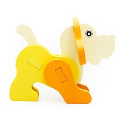 قطع تركيب3D تركيب ألعاب حيوان 3D خشب الخشب الطبيعي للجنسين الفتيان قطع
