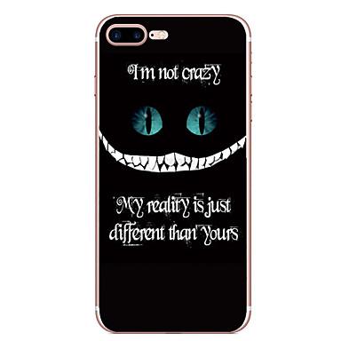 Für iPhone X iPhone 8 Hüllen Cover Muster Rückseitenabdeckung Hülle Wort / Satz Cartoon Design Weich TPU für Apple iPhone X iPhone 8 Plus
