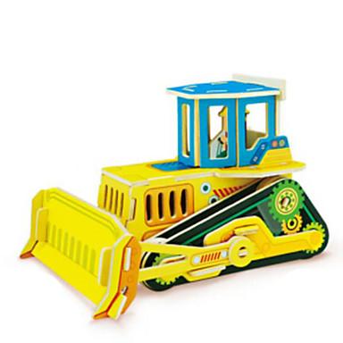 Jucării pentru mașini Puzzle 3D Puzzle Modelul lemnului Vehicul de Construcție Jucarii Excavator 3D Lemn Lemn natural Unisex Băieți Bucăți