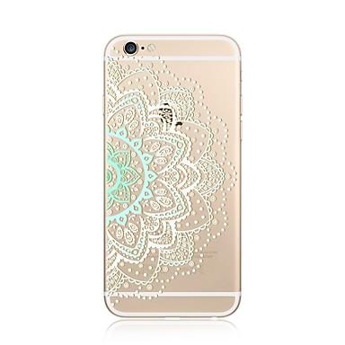 Hülle Für Apple iPhone X iPhone 8 Plus Transparent Muster Rückseitenabdeckung Mandala Lace Printing Weich TPU für iPhone X iPhone 8 Plus