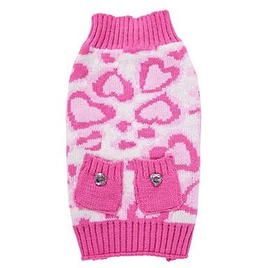 Γάτα Σκύλος Παλτά Πουλόβερ Χριστούγεννα Ρούχα για σκύλους Λεοπάρ Ροζ Spandex Βαμβάκι / Μείγμα Λινού Στολές Για Άνοιξη & Χειμώνας Χειμώνας Πάρτι Στολές Ηρώων Καθημερινά
