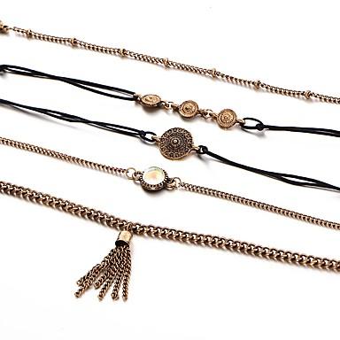 Pentru femei Zirconiu Cubic Lux Set bijuterii - Lux / Ciucure / Hip-Hop Geometric Shape Auriu Brățară Pentru Nuntă / Bebeluș nou / Cadou