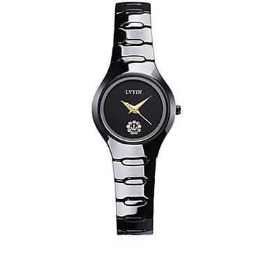 Dames Modieus horloge Kwarts Waterbestendig Keramiek Band Zwart
