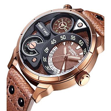 Bărbați Unic Creative ceas Ceas de Mână Ceas La Modă Ceas Sport Ceas Casual Chineză Quartz Calendar Rezistent la Apă Piele Autentică Bandă