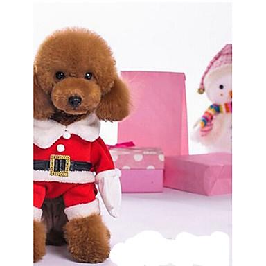 Câine Costume Îmbrăcăminte Câini Crăciun Crăciun Rosu