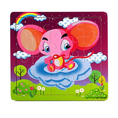 تركيب ألعاب فيل وردة خشبي غير محدد قطع