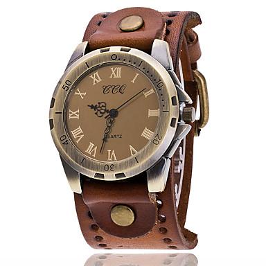 זול שעוני גברים-בגדי ריקוד גברים שעון צמיד קווארץ עור שחור / לבן / כחול שעונים יום יומיים אנלוגי נשים וינטאג' יום יומי אופנתי אלגנטית - אדום ירוק כחול שנה אחת חיי סוללה / SSUO LR626