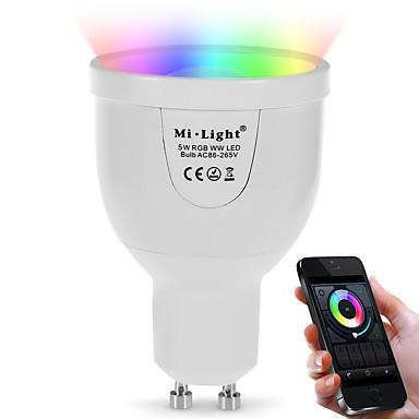 5W GU10 مصابيح صغيرة LED A60(A19) 12 الأضواء SMD 5730 الأشعة تحت الحمراء الاستشعار تخفيت جهاز تحكم WIFI التحكم في الإضاءة المزدوج مصدر