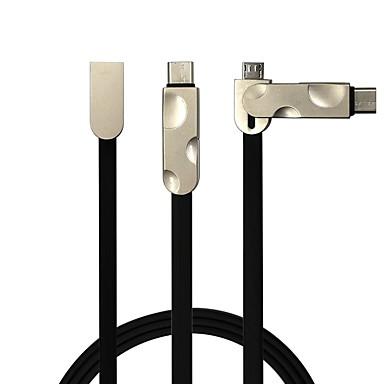 All-In-1 USB 2.0 USB-Kabeladapter Flach 1 bis 2 Kabel Für Samsung Huawei LG Nokia Lenovo Motorola Xiaomi HTC Sony 100 cm PVC
