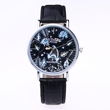 Bărbați Pentru femei Quartz Ceas de Mână Chineză cald Vânzare PU Bandă Vintage Casual Unic Watch Creative Elegant Modă Negru Alb Maro