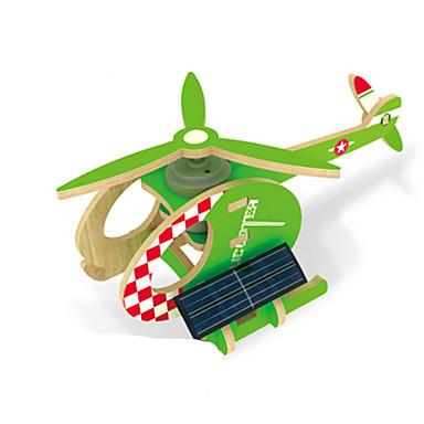 Jucării Încărcate Solar Puzzle 3D Puzzle Modele de Lemn Μοντέλα και κιτ δόμησης Jucării Educaționale Aeronavă Elicopter 3D Alimentat