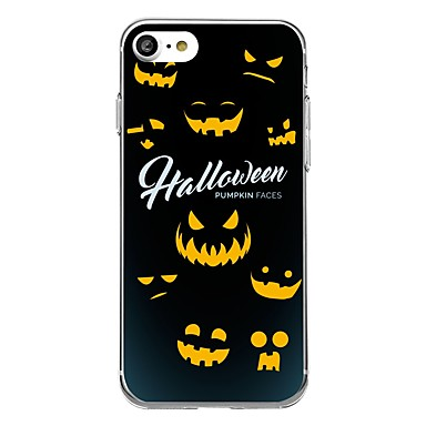 Maska Pentru Apple iPhone 7 Plus iPhone 7 Transparent Model Capac Spate Halloween Desene Animate Moale TPU pentru iPhone 7 Plus iPhone 7