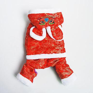 Hund Overall Hundekleidung Lässig/Alltäglich Neujahr Bestickt Kostüm Für Haustiere