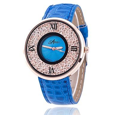 Bărbați Ceas La Modă Ceas de Mână Unic Creative ceas Ceas Casual Ceasuri din Cristal Chineză Quartz PU Bandă Casual Elegant Negru Alb
