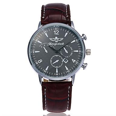 Bărbați Unic Creative ceas Ceas de Mână Ceas Elegant  Ceas La Modă Ceas Casual Chineză Quartz Calendar Piele Bandă Charm Lux Casual