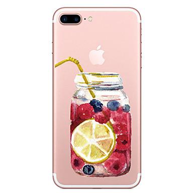 Für Apfel iphone 7 7 plus Fallabdeckung Fruchtflaschenmuster gemaltes hohes penetration tpu materielles weiches Falltelefonkasten für