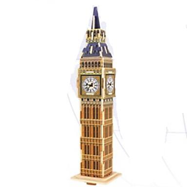3D-puzzels Legpuzzel Houten modellen Beroemd gebouw Hout Natuurlijk Hout Kinderen Unisex Geschenk