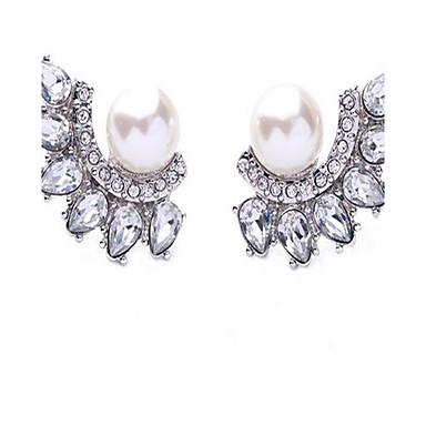 Damen Ohrstecker Imitierte Perlen Strass Sexy Modisch individualisiert Simple Style überdimensional Aleación Blumenform Schmuck Schmuck