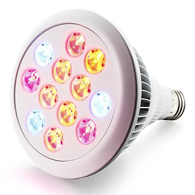 280-320 lm E27 تزايد المصابيح الكهربائية 12 الأضواء طاقة عالية LED أحمر أزرق أس 85-265V